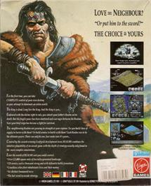 Box back cover for Realms on the Atari ST.
