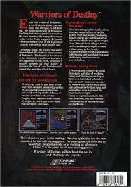 Box back cover for Realms of Arkania: Blade of Destiny on the Atari ST.