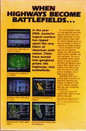 Box back cover for Roadwar 2000 on the Atari ST.
