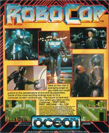Box back cover for Robocop on the Atari ST.