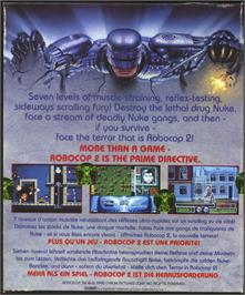Box back cover for Robocop 2 on the Atari ST.