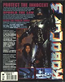 Box back cover for Robocop 3 on the Atari ST.