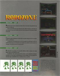Box back cover for Robozone on the Atari ST.