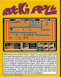 Box back cover for Rock 'n Roll on the Atari ST.