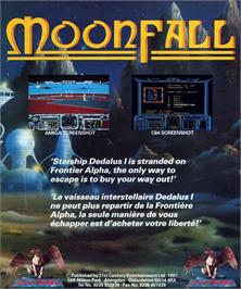 Box back cover for Rockfall on the Atari ST.