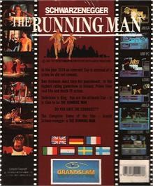 Box back cover for Running Man on the Atari ST.