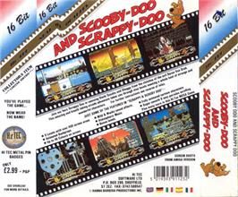 Box back cover for Scooby Doo and Scrappy Doo on the Atari ST.