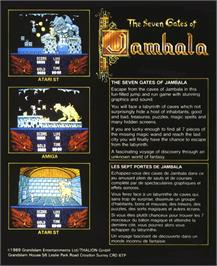 Box back cover for Seven Gates of Jambala on the Atari ST.