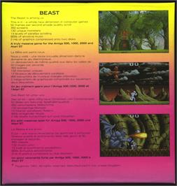 Box back cover for Shadow of the Beast on the Atari ST.