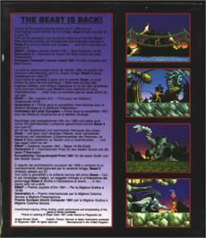 Box back cover for Shadow of the Beast 2 on the Atari ST.
