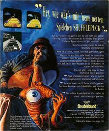 Box back cover for Shufflepuck Cafe on the Atari ST.