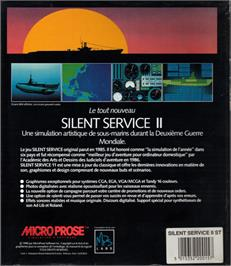 Box back cover for Silent Service 2 on the Atari ST.