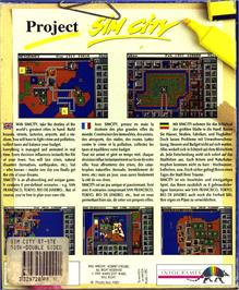 Box back cover for Sim City: Terrain Editor on the Atari ST.