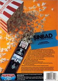 Box back cover for Sinbad and the Throne of the Falcon on the Atari ST.