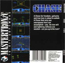 Box back cover for Sky Chase on the Atari ST.