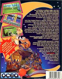 Box back cover for Sleepwalker on the Atari ST.