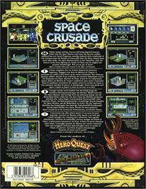 Box back cover for Space Crusade on the Atari ST.