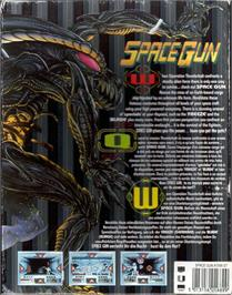 Box back cover for Space Gun on the Atari ST.