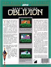 Box back cover for Space Station Oblivion on the Atari ST.