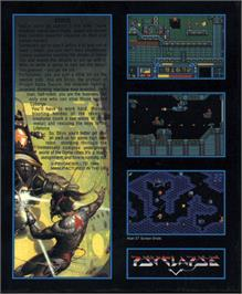 Box back cover for Stryx on the Atari ST.