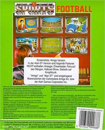 Box back cover for TV Sports Football on the Atari ST.
