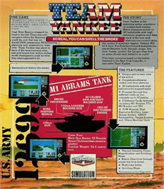 Box back cover for Team Yankee on the Atari ST.
