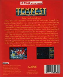 Box back cover for Tempest on the Atari ST.