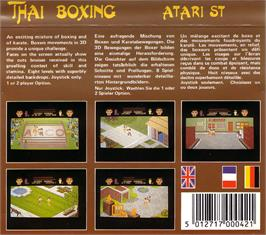 Box back cover for Thai Boxing on the Atari ST.