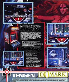 Box back cover for Thunder Blade on the Atari ST.