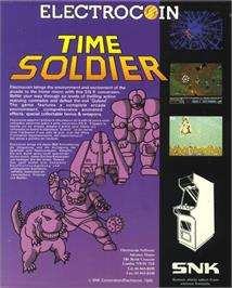 Box back cover for Time Soldiers on the Atari ST.