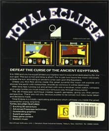 Box back cover for Total Eclipse on the Atari ST.