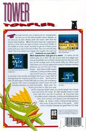 Box back cover for Tower Toppler on the Atari ST.