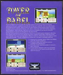 Box back cover for Tower of Babel on the Atari ST.