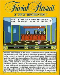 Box back cover for Trivial Pursuit: A New Beginning on the Atari ST.