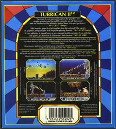 Box back cover for Turrican II: The Final Fight on the Atari ST.