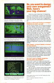 Box back cover for Wargame Construction Set on the Atari ST.