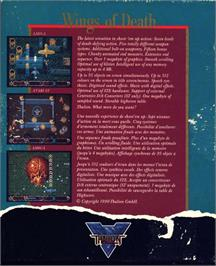 Box back cover for Wings of Death on the Atari ST.