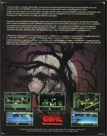 Box back cover for Wolfchild on the Atari ST.