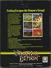 Box back cover for Wrath of the Demon on the Atari ST.