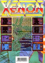 Box back cover for Xenon on the Atari ST.