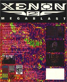 Box back cover for Xenon 2: Megablast on the Atari ST.