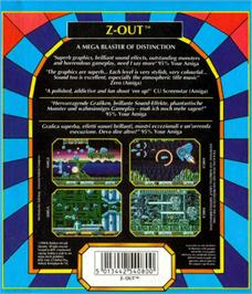 Box back cover for Z-Out on the Atari ST.