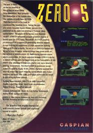 Box back cover for Zero 5 on the Atari ST.