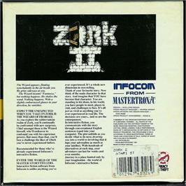 Box back cover for Zork II: The Wizard of Frobozz on the Atari ST.