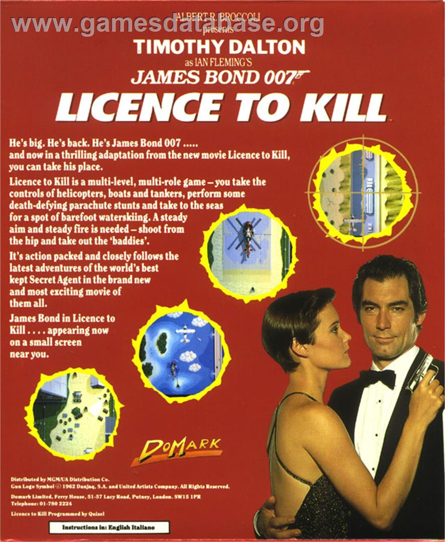 007: Licence to Kill - Atari ST - Artwork - Box Back