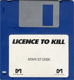 Artwork on the Disc for 007: Licence to Kill on the Atari ST.