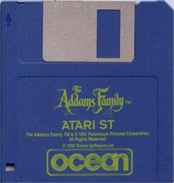 Artwork on the Disc for Addams Family, The on the Atari ST.