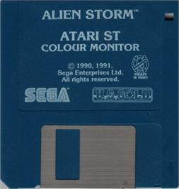 Artwork on the Disc for Alien Storm on the Atari ST.