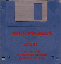 Artwork on the Disc for Archipelagos on the Atari ST.