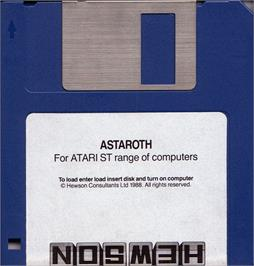 Artwork on the Disc for Astaroth: The Angel of Death on the Atari ST.